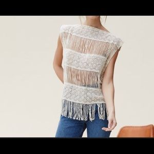 Crocheted Fringe Top